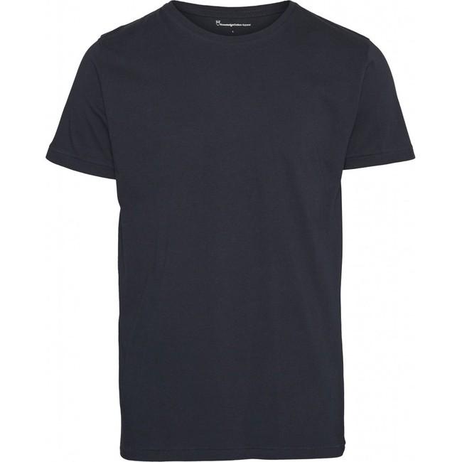 T-shirt bleu nuit en coton bio - Knowledge Cotton Apparel