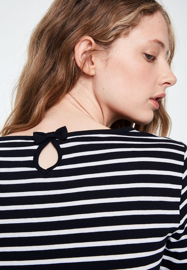 T-shirt manches longues rayé - valentina stripes - Armedangels num 2