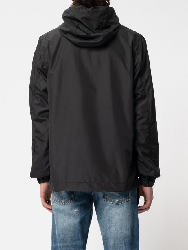 Anorak pull over noir en matières recyclées - buster - Nudie Jeans num 2