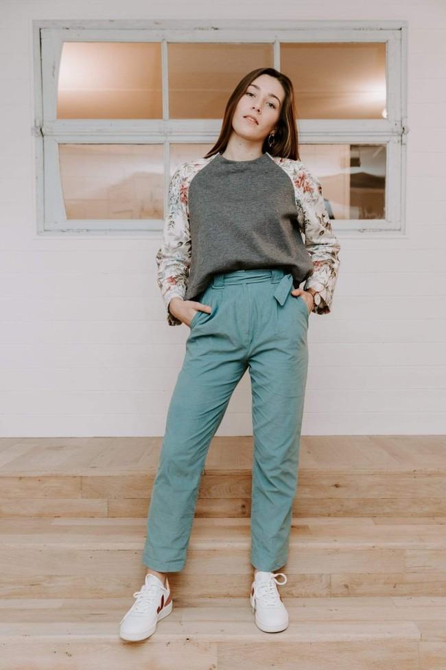 Pantalon krabe blue velvet - Les Récupérables num 2