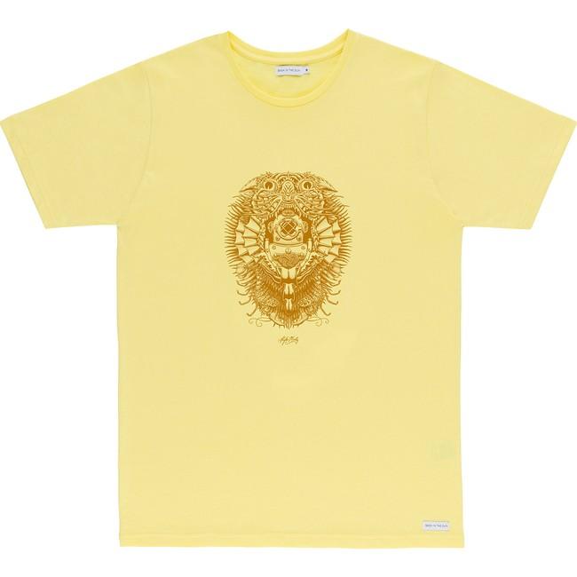 T-shirt en coton bio yellow creature - Bask in the Sun