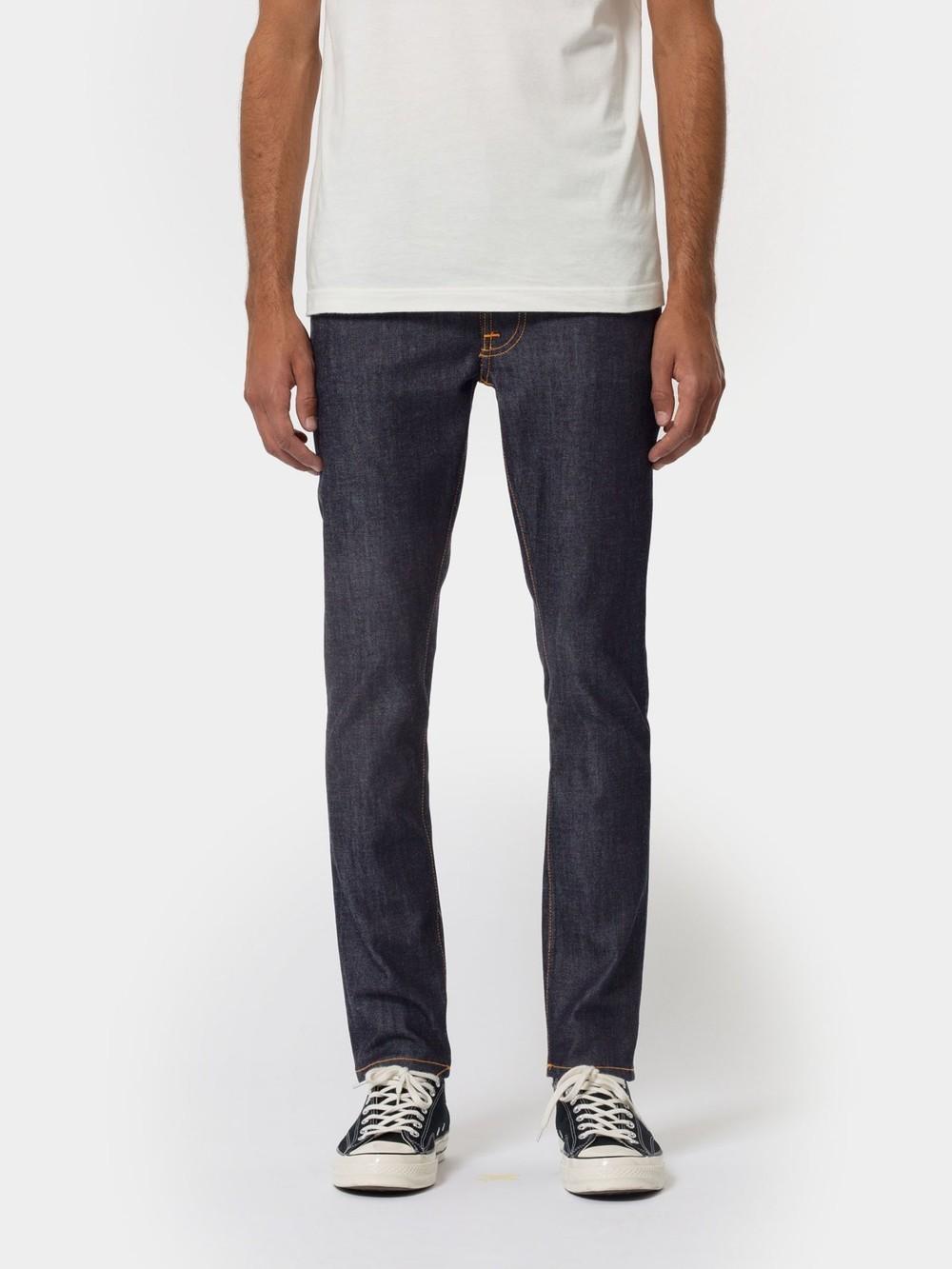 Jean slim brut en coton bio - lean dean dry 16 dips - Nudie Jeans