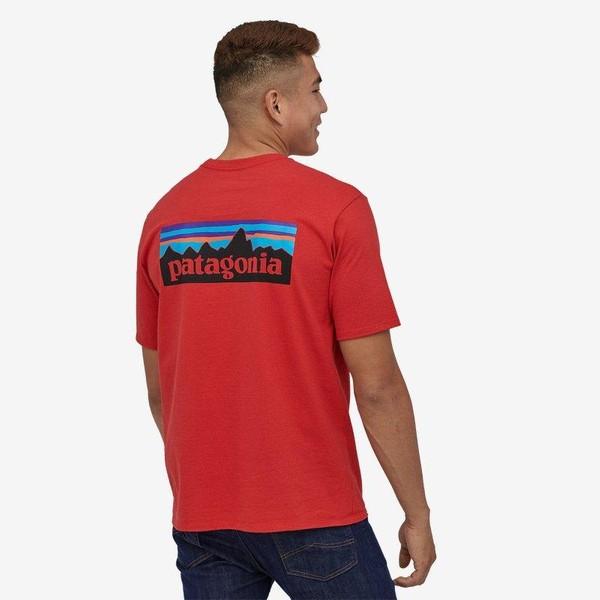T-shirt imprimé corail en coton bio - p6 logo responsibili-tee - Patagonia