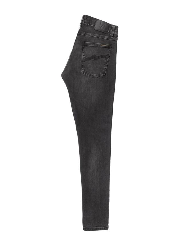 Jean skinny noir délavé en coton bio - tight terry black treats - Nudie Jeans num 7