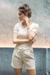 Short tailleur rome ivoire - 17h10 - 1
