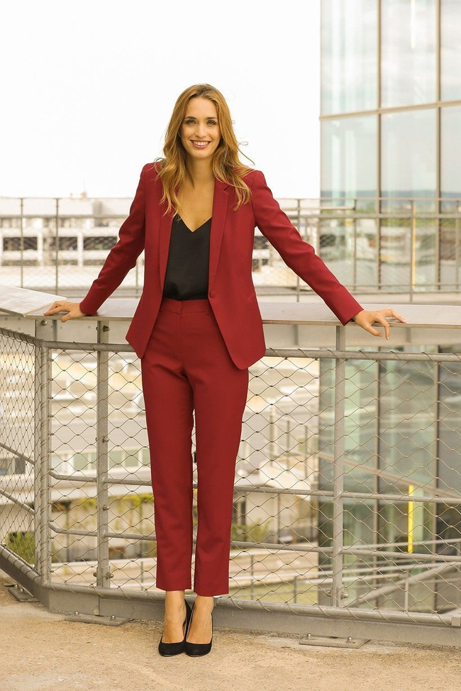Pantalon tailleur new-york rouge - 17h10 num 3