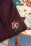 T-shirt brodé prune en coton bio - rose - Johnny Romance - 2