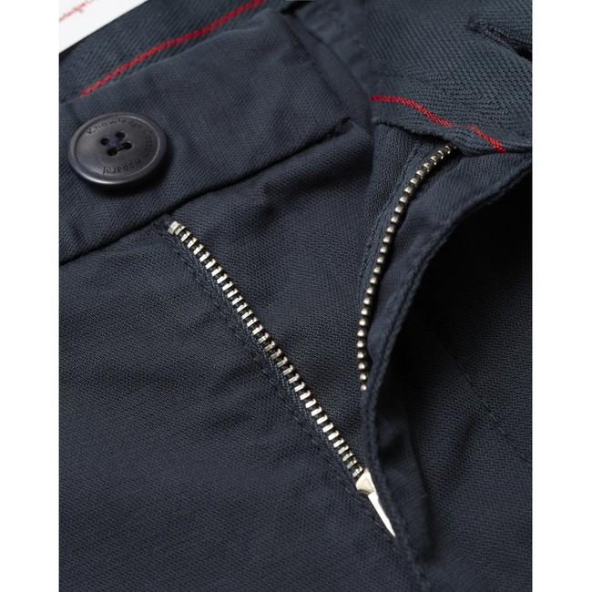Chino court ample bleu nuit en coton bio - bob - Knowledge Cotton Apparel num 2