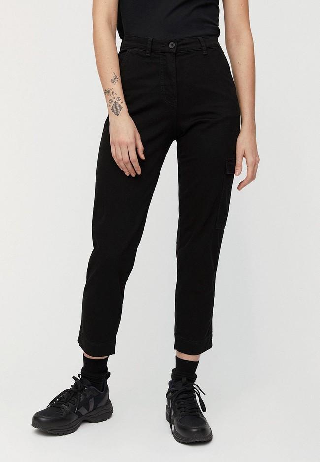 Pantalon cargo noir en coton bio - virginiaa - Armedangels