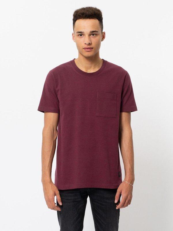 T-shirt figue avec poche en coton bio - kurt - Nudie Jeans