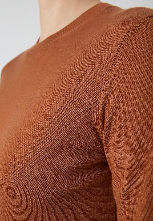Pull marron en tencel et coton bio - aalice - Armedangels num 1
