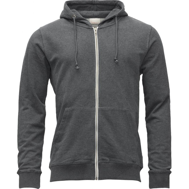 Veste zippée grise en coton bio - Knowledge Cotton Apparel