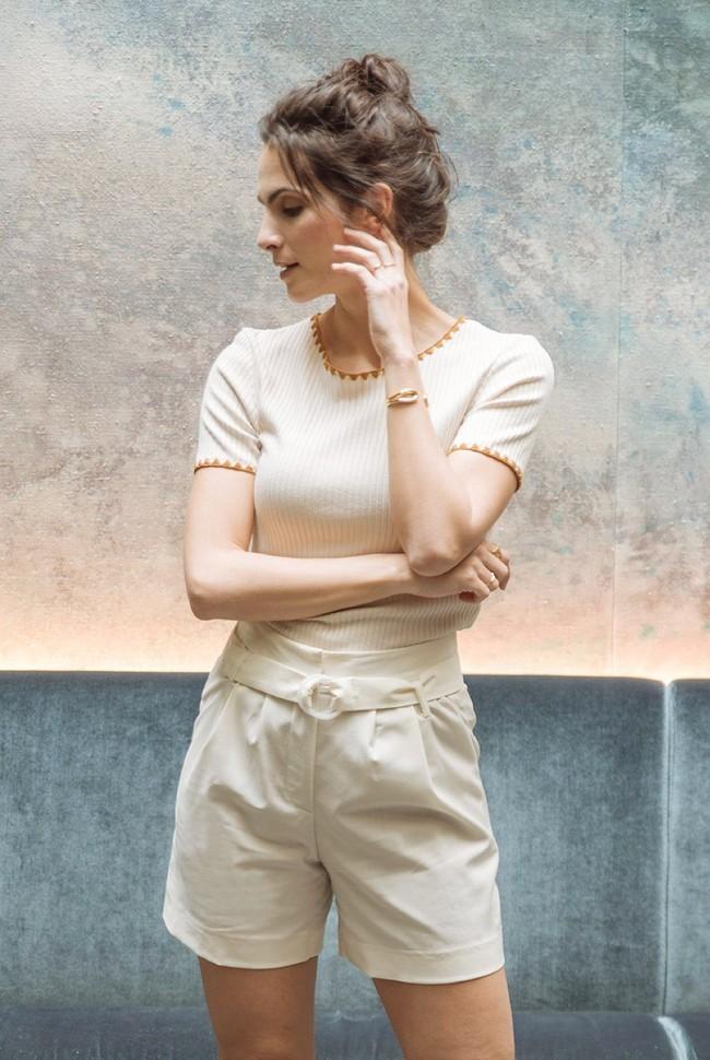 Short tailleur rome ivoire - 17h10