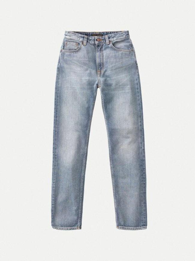 Jean mom bleu clair délavé en coton bio - breezy britt springtime - Nudie Jeans num 5