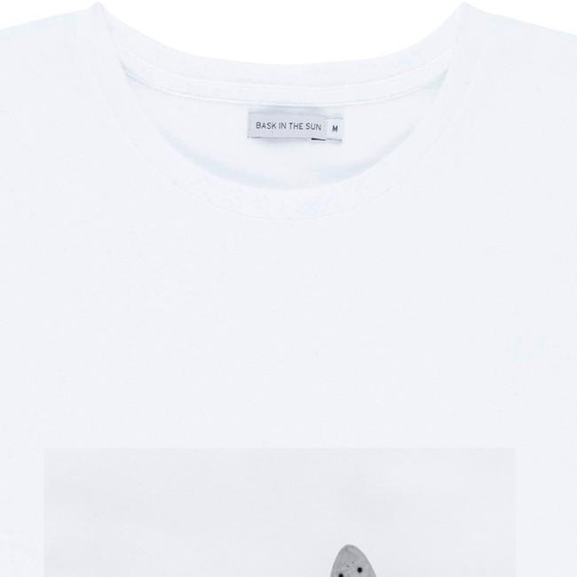 T-shirt en coton bio white pleasure - Bask in the Sun num 1