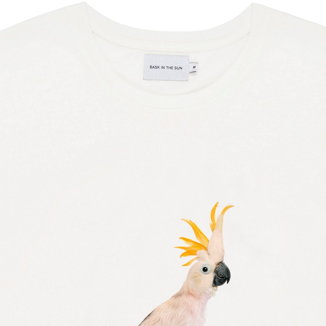 T-shirt en coton bio white cockatoo - Bask in the Sun num 1