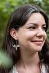 Boucles d'oreilles fleur en argent recyclé - barleria - Elle & Sens - 1