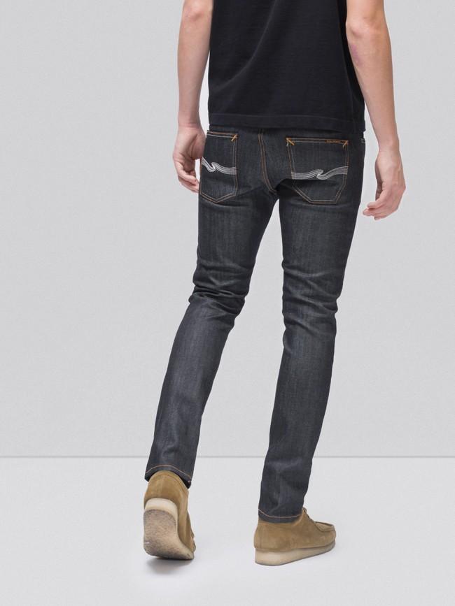 Jean slim brut en coton bio - lean dean dry tonal ecru - Nudie Jeans num 1