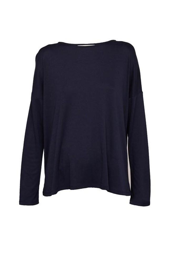 T-shirt à manches longues marine en tencel et coton bio - leigton - People Tree num 3