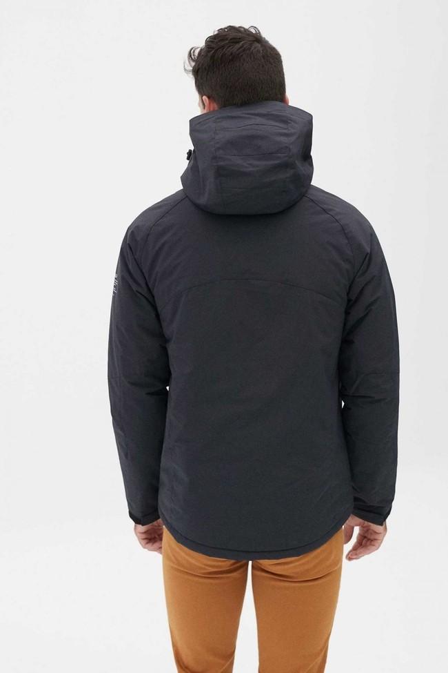 Manteau à capuche bleu marine en nylon recyclé - kilimanjaro - Ecoalf num 3