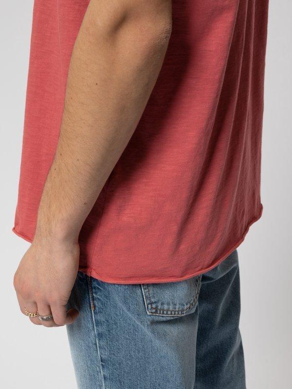 T-shirt corail en coton bio - roger - Nudie Jeans num 3