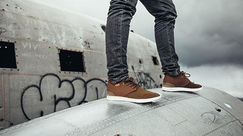 Chaussures recyclées semnoz homme chocolat - Saola num 1