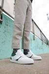 Chaussure en glencoe cuir blanc / suède sapin - Oth - 6