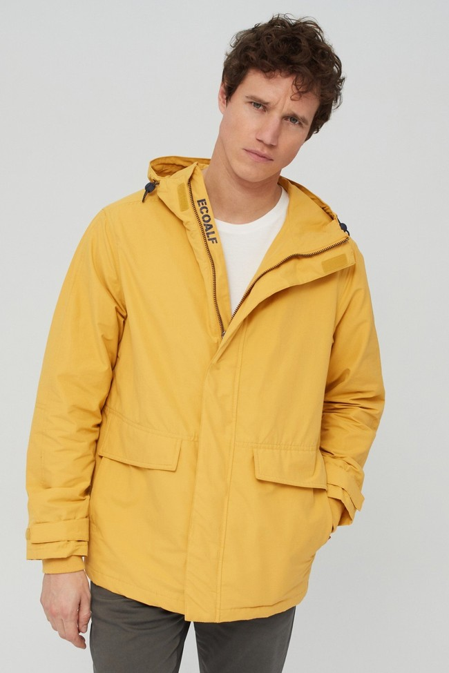 Veste jaune en coton bio et nylon recyclé - junabee - Ecoalf