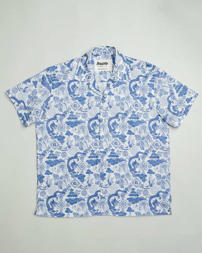 Chinese jar aloha shirt - Brava Fabrics num 1
