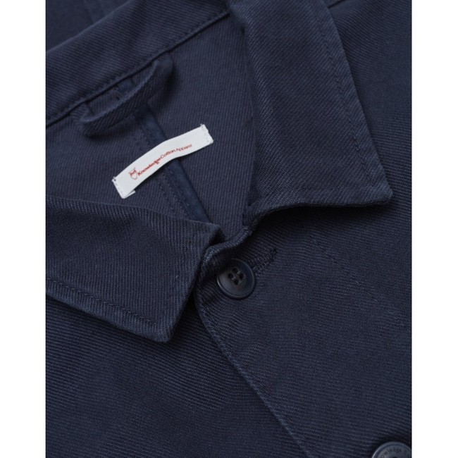 Veste marine en coton bio - Knowledge Cotton Apparel num 2