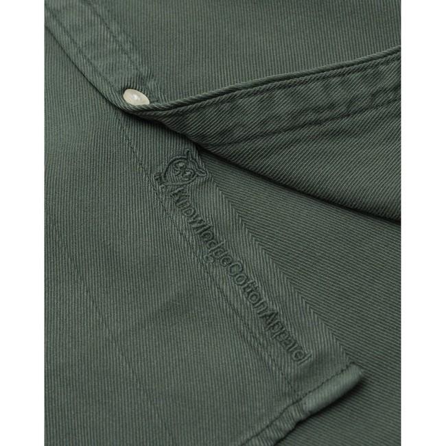Chemise vert forêt en tencel et coton bio - larch - Knowledge Cotton Apparel num 2