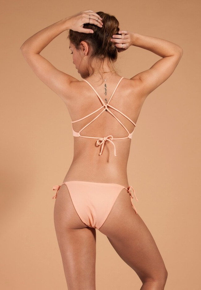 Haut de bikini rose recyclé - soller - Ocealah num 1