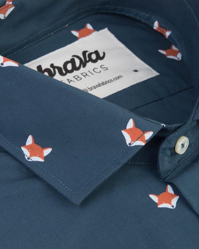 Fox in the snow shirt - Brava Fabrics num 2