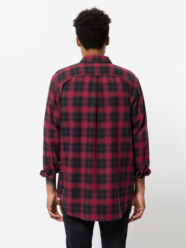 Chemise à carreaux rouge et noir - gabriel - Nudie Jeans num 3