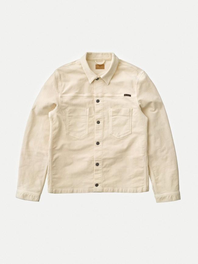 Veste en velours écru en coton bio - ronny - Nudie Jeans num 4
