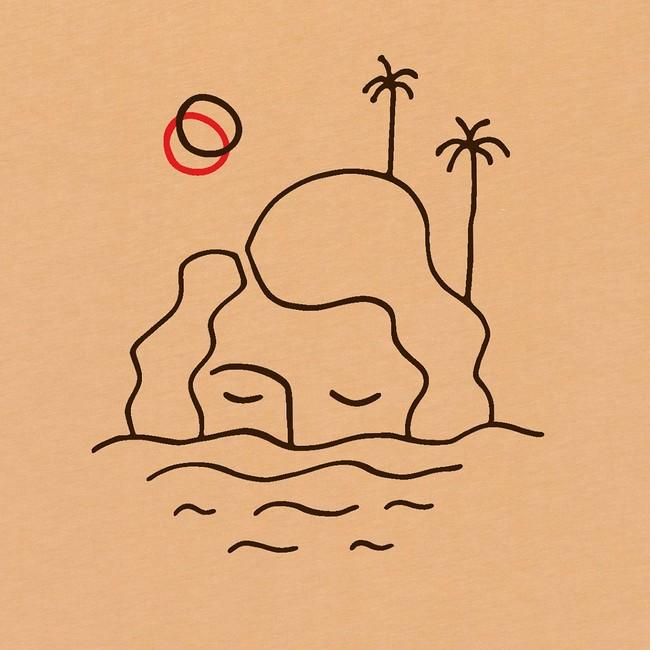 T-shirt en coton bio sand isla - Bask in the Sun num 2
