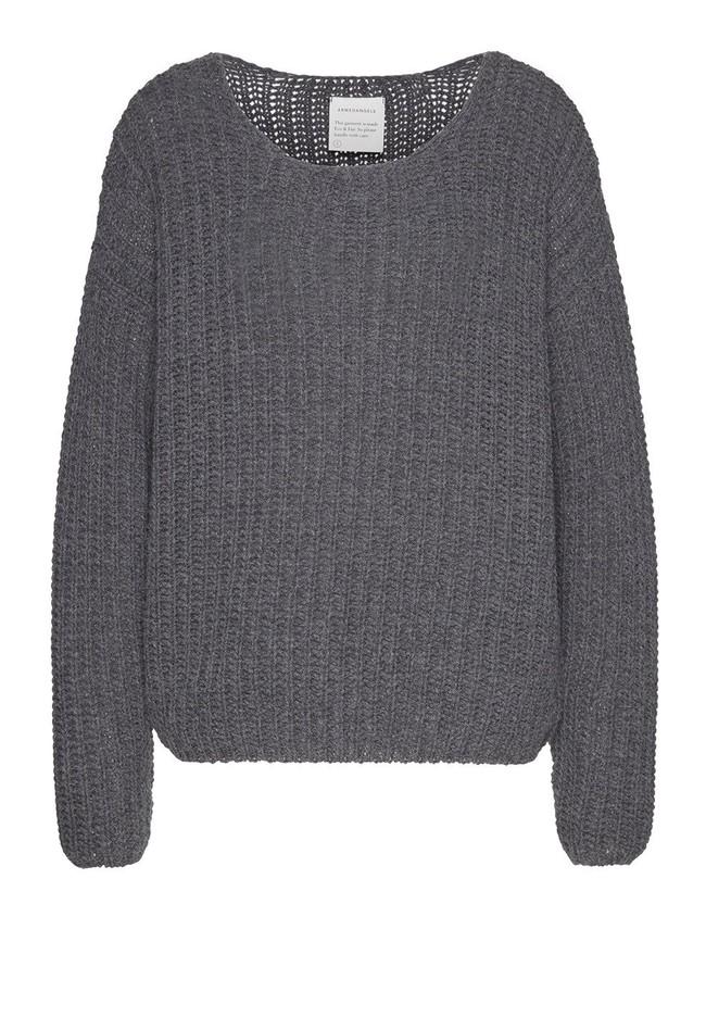 Pull en maille gris en coton et laine bio - saadie - Armedangels num 5