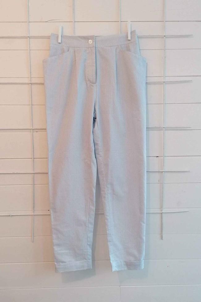 Pantalon kipants rayures bleu et blanc - Les Récupérables