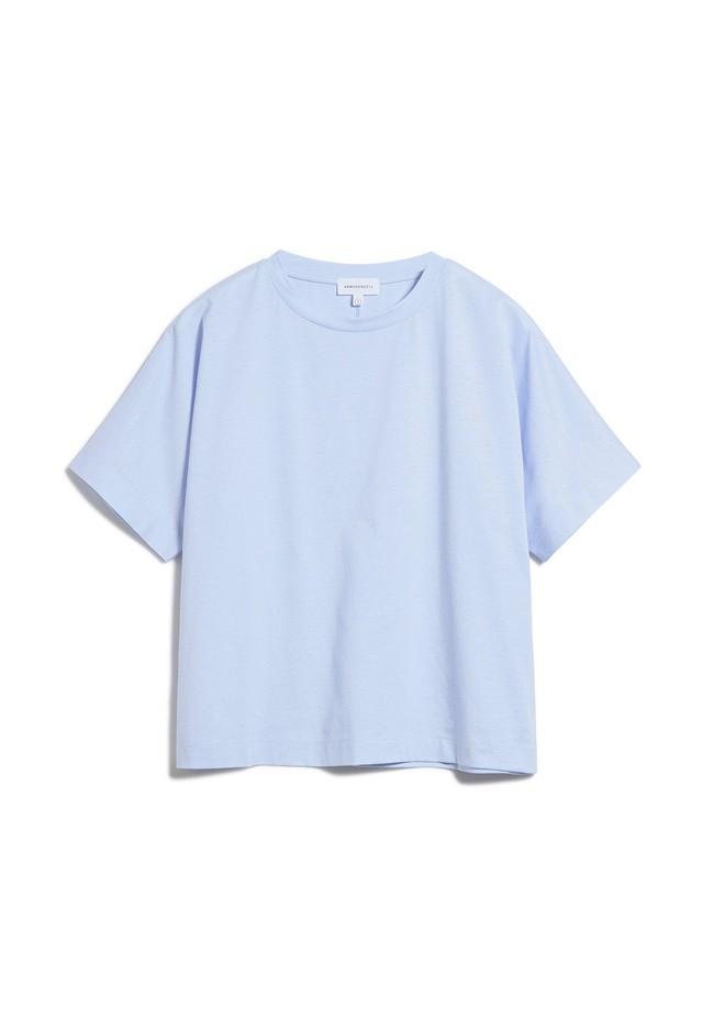 T-shirt bleu ciel en coton bio - kajaa - Armedangels num 4
