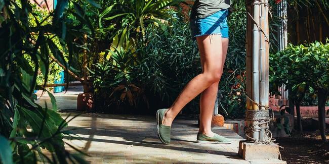 Chaussures recyclées sequoia burnt olive - Saola num 1