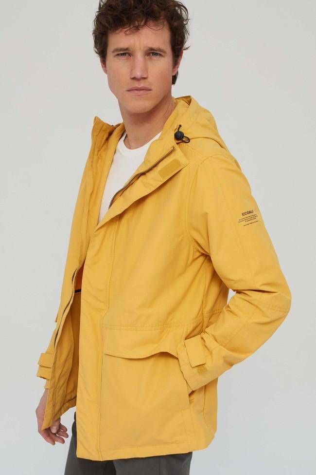 Veste jaune en coton bio et nylon recyclé - junabee - Ecoalf num 3