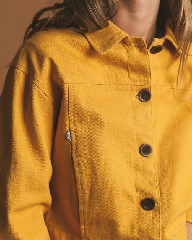Veste moutarde en chanvre et coton bio - rufiji - Thinking Mu num 1