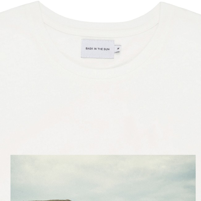 T-shirt en coton bio natural surf naked - Bask in the Sun num 1