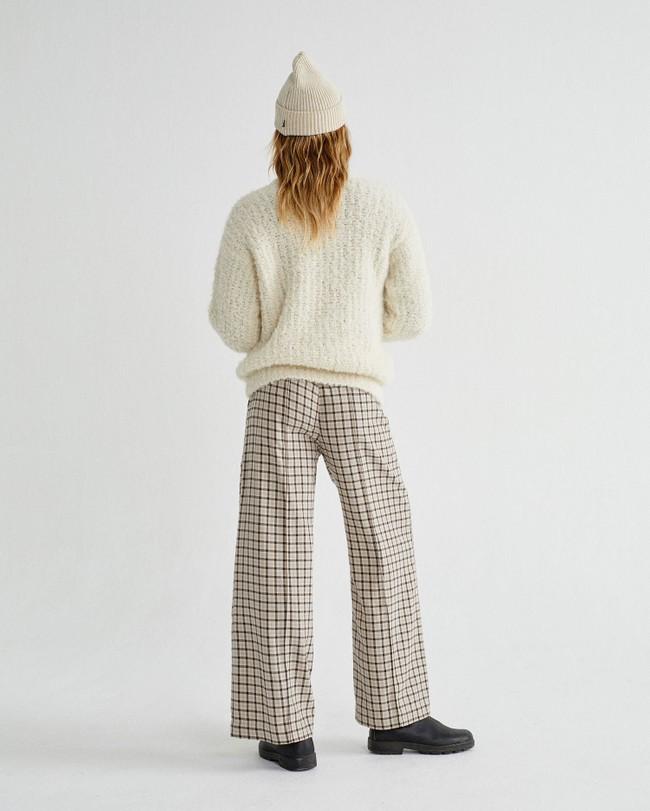 Pull à col cheminée blanc en laine d'alpaga et pet recyclé - cotys - Thinking Mu num 3