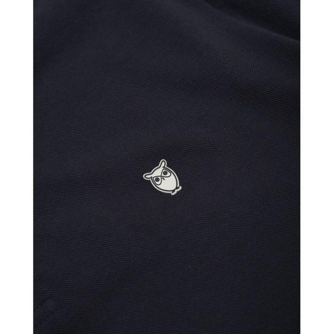 Polo bleu nuit en coton bio - Knowledge Cotton Apparel num 3