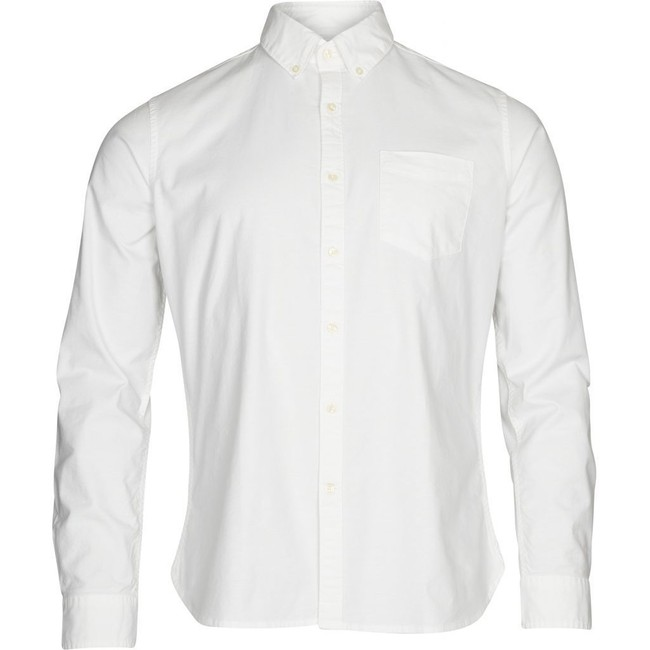 Chemise blanche en coton bio - stretched oxford - Knowledge Cotton Apparel