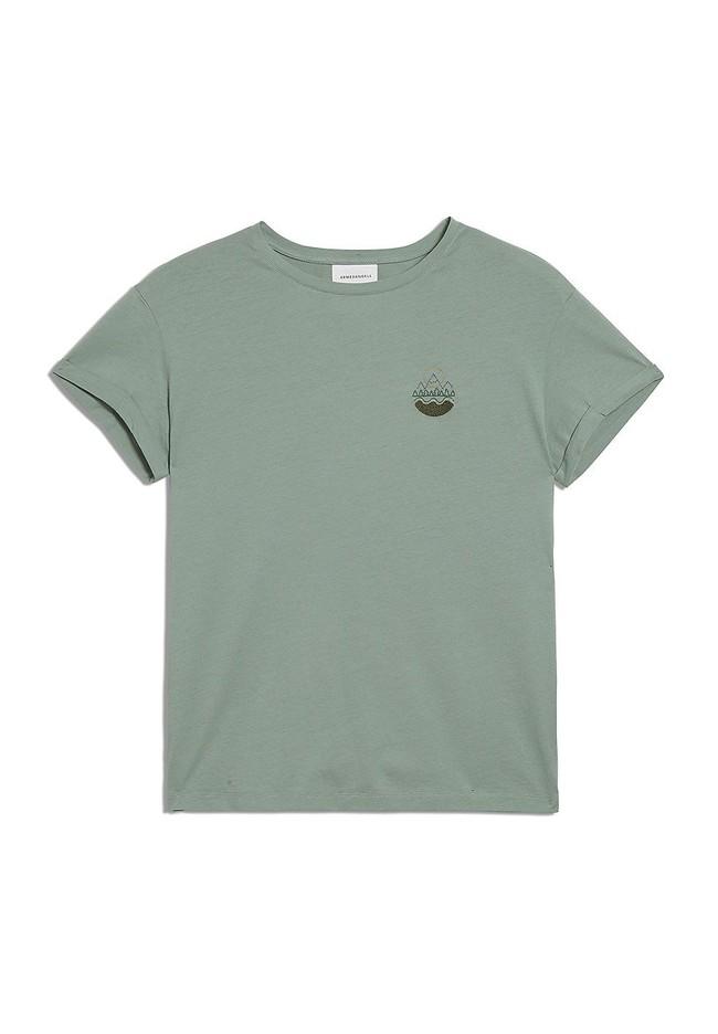 T-shirt vert en coton bio - naalin girl scout - Armedangels num 4