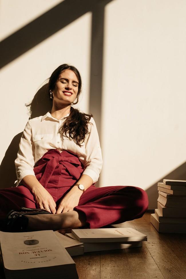 Le Pantalon Zephyr en coton bio - rouge - Atelier Unes