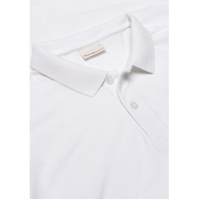 Polo blanc en coton bio - pique polo - Knowledge Cotton Apparel num 1