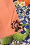 T-shirt brodé corail en coton bio - rose - Johnny Romance - 2